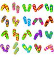 flip flops cartoon collection vector image