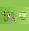 forest park poster vector image vector image
