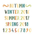 four seasons lettering vector image vector image
