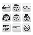 Google glass buttons set vector image vector image