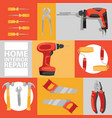 hand tool seamless pattern construction vector image