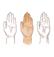 hand up logo chiromancy palmistry or palm vector image