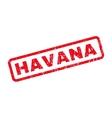 Havana Rubber Stamp vector image vector image