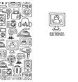 Home electronics sketch vertical banner vector image vector image