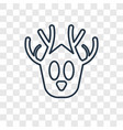hunting trophy concept linear icon isolated on vector image