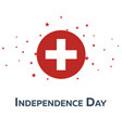independence day of switzerland patriotic banner vector image