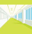 interior of school hall with yellow floor windows vector image vector image