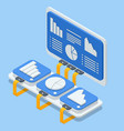 isometric online devices upload download vector image