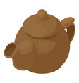 kettle brown icon isometric 3d style vector image vector image