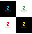 letter n in circle logo icon design vector image