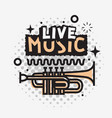 live music in the concert design vector image
