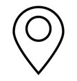 location black color icon icon vector image vector image