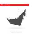 map united arab emirates isolated vector image