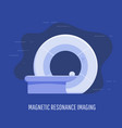 medical magnetic resonance scan device vector image vector image