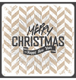 merry christmas vintage chevron vector image