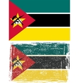 Mozambique grunge flag Grunge effect can be vector image vector image