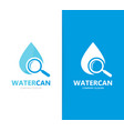 oil and loupe logo combination drop and vector image vector image