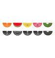 orange lime kiwi watermelon slices pattern vector image