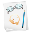 Paper and coffee stain vector image vector image