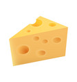 piece of netherlands maasdam cheese vector image vector image