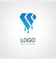 polygon shape oil logo vector image vector image