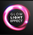 red circles glow light effect energy line vector image vector image