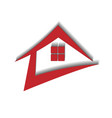 red house real estate dynamic logo vector image