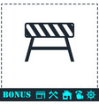 road barrier icon flat vector image