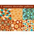set colored retro circle seamless pattern vector image