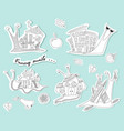 set of funny snails sketch ahatina snail vector image vector image
