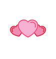 set of love group icon simple heart line style vector image