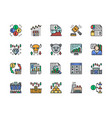 set stock market color icons bull and bear vector image
