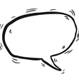 simple black and white cartoon speech bubble vector image vector image