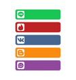 social network strip backgrounds vector image vector image