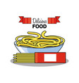 spaghetti in bowl isolated icon vector image