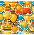 Sport or business award sticker icons seamless vector image
