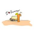summer beach sketch doodle hand vector image