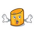 Surprised rigatoni mascot cartoon style