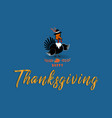 thanksgiving turkey cute cartoon vector image