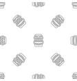 tiki idol smile pattern seamless vector image