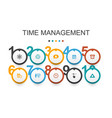 time management infographic design template vector image vector image