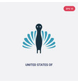 two color united states america icon from vector image vector image