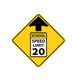 usa traffic road signs reduced speed limitschool vector image vector image