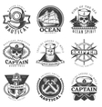 Vintage Sailor Naval Label Set vector image