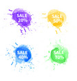 watercolor-sale-set vector image