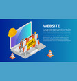 website under construction page background vector image vector image