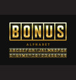 welcome bonus casino banner design font slot vector image