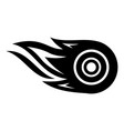 wheel fire icon simple black style vector image vector image