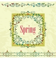 Spring graphic design on a green background vector image
