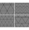geometric triangles seamless pattern set vector image